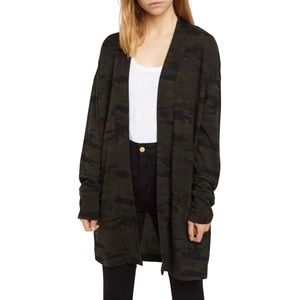 Sanctuary Up Camp Camo Knit Open Front Cardigan
